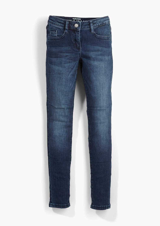Blue Denim Stretch 56Z4 170//REG s.Oliver M/ädchen 76.899.71 Slim Fit: Skinny Leg elastischer Qualit/ät Blau