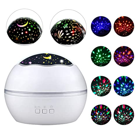 5dde9bcc2b8c Opard Baby Projector Night Light for Kids Star Projector 8 Mode 360 Degree  Rotating Projection Lamp