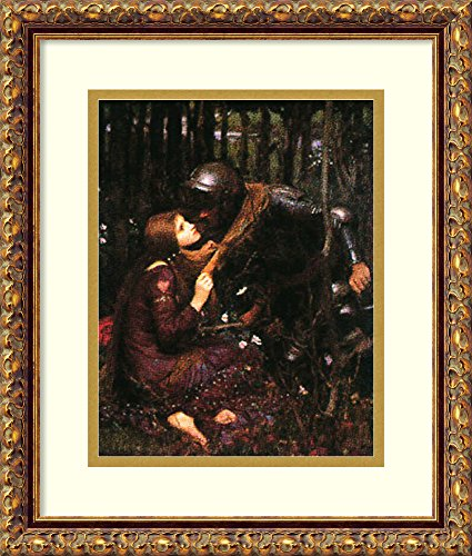 Framed Art Print 'La Belle Dame Sans Merci' by John William - Framed Merci Belle Dame Sans
