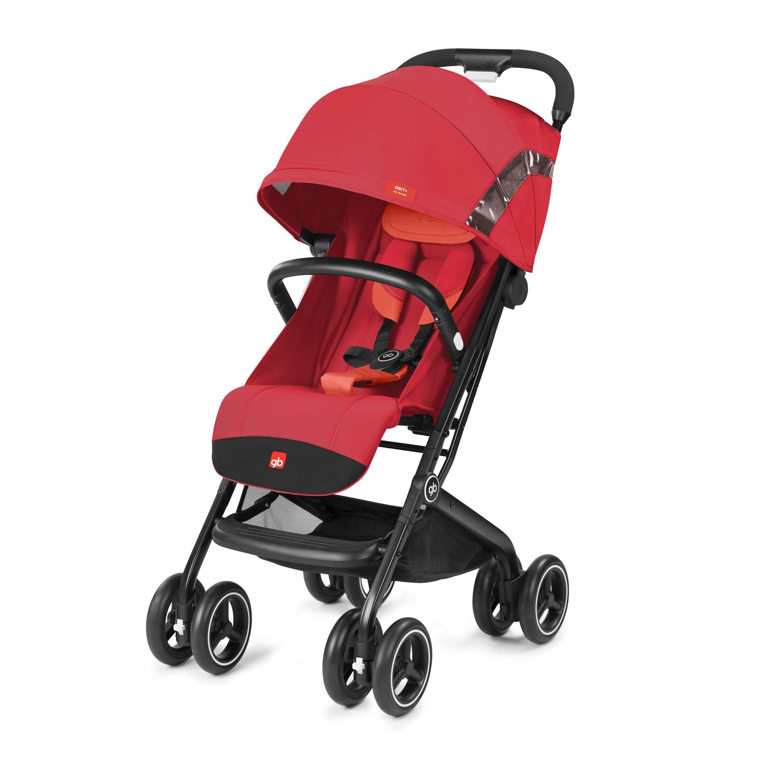 gb 2019 Buggy QBIT+ All-Terrain with Bumper Bar''Rose Red''- from Birth up to 17 kg (Approx. 4 Years) - GoodBaby QBIT Plus
