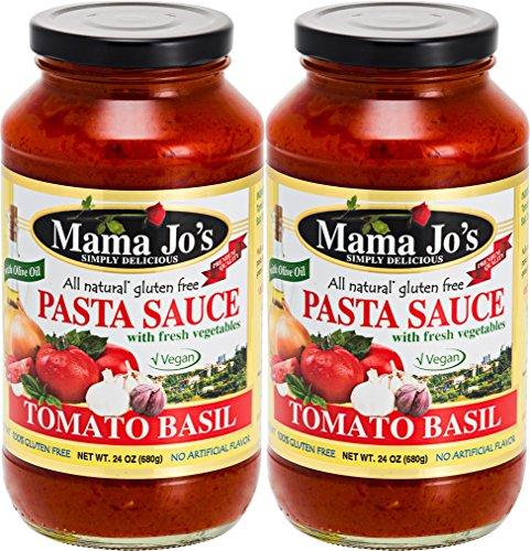 Mama Jo's Pasta Sauce - Tomato Basil. Vegan. Gluten Free. Premium Quality (Free And Gluten Sauce Spaghetti)