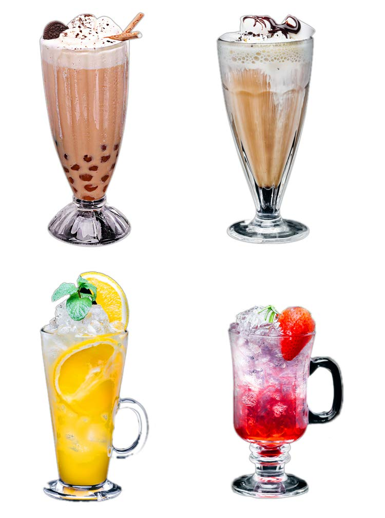 Juice Cup Milk Tea Cup Glass Cold Drink Cup Milkshake Drink Dessert Ice Cream Cock Cup