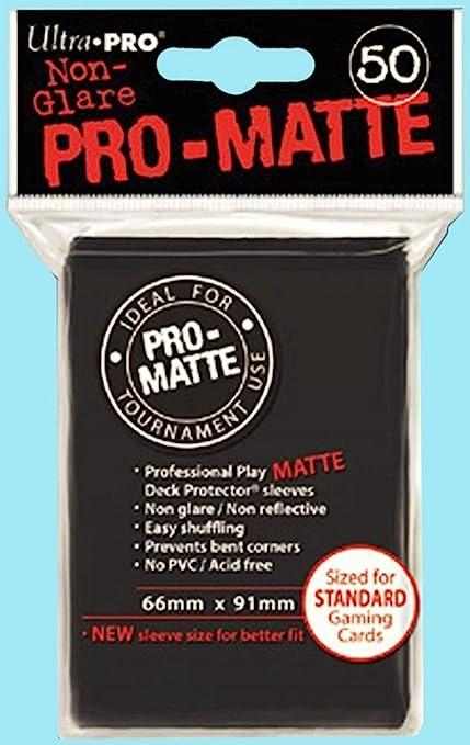 12 Packs BLACK MTG Ultra Pro Deck Sleeves 600 NEW SIZE
