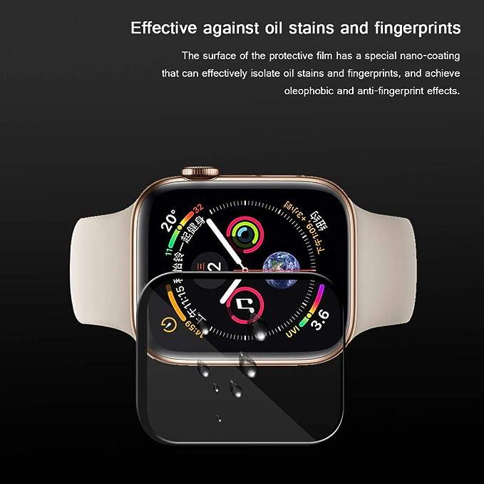 Sencillo Vida Apple Watch Series 4 (40mm/44mm) Protector de Pantalla Pelicula Protectora Screen Protector 1 Unidades (44mm, Tempered Glass): Amazon.es: ...