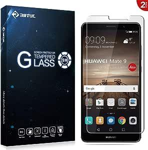 Riffue Huawei Mate 9 Protector de Pantalla, Huawei Mate 9 Cristal ...