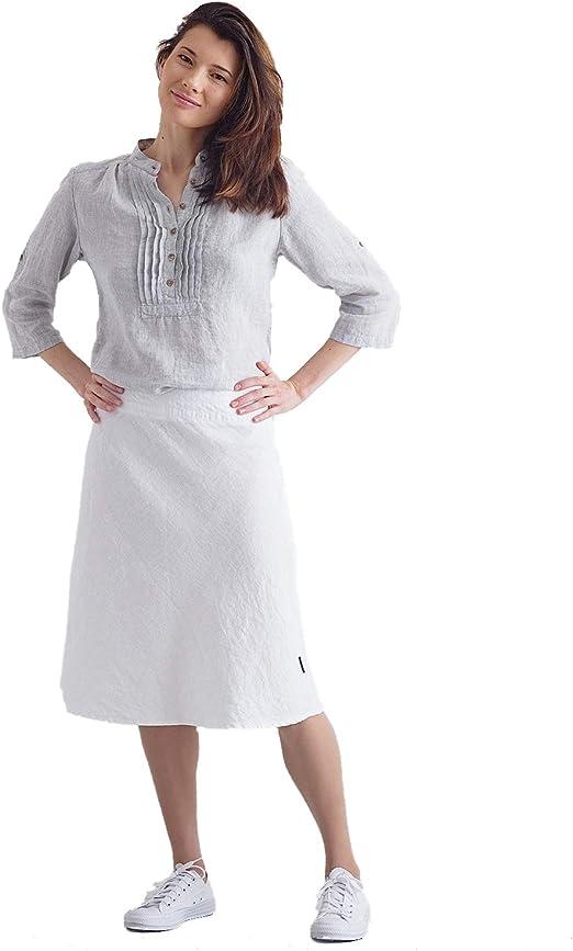 Falda de Lino en Color Blanco Modelo Alma: Amazon.es: Hogar