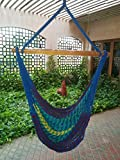 Hangit Mexican Brazilian Multi-color Rope Hanging Hammock swing chair for home living room