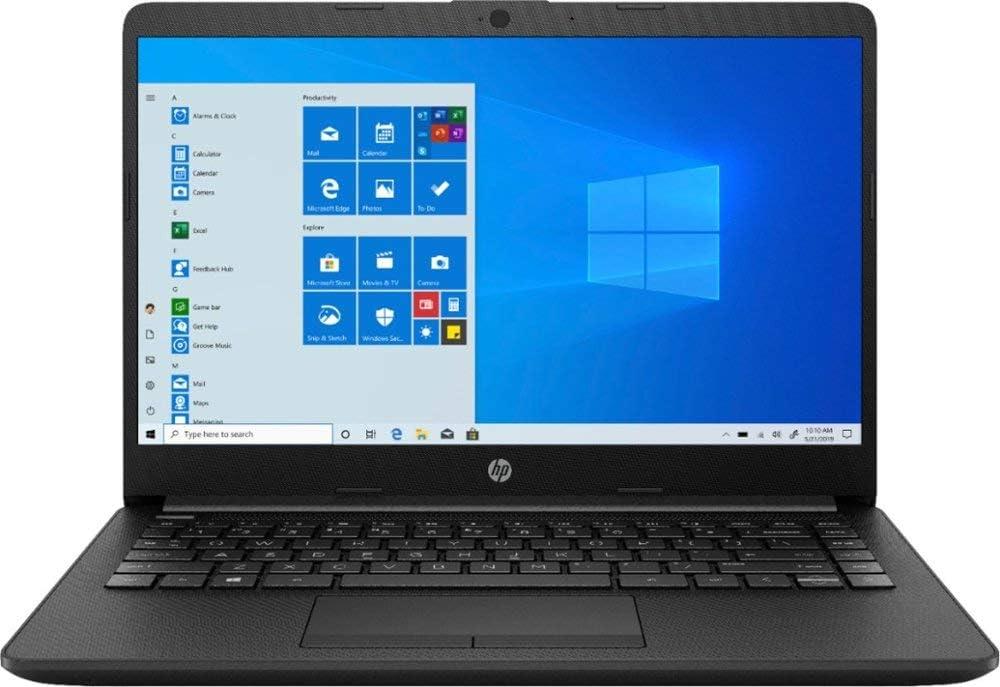 "HP 14 14.0"" Laptop Computer, AMD Athlon Silver 3050U Up to 3.2GHz (Beat i3-7130u), 4GB DDR4 RAM, 128GB SSD, 802.11AC WiFi, HDMI, Black, Windows 10 Home S, iPuzzle MousePad"