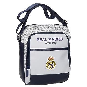 Amazon.com: Real Madrid White Rm Messenger Bag, 22 cm, 3.83 ...