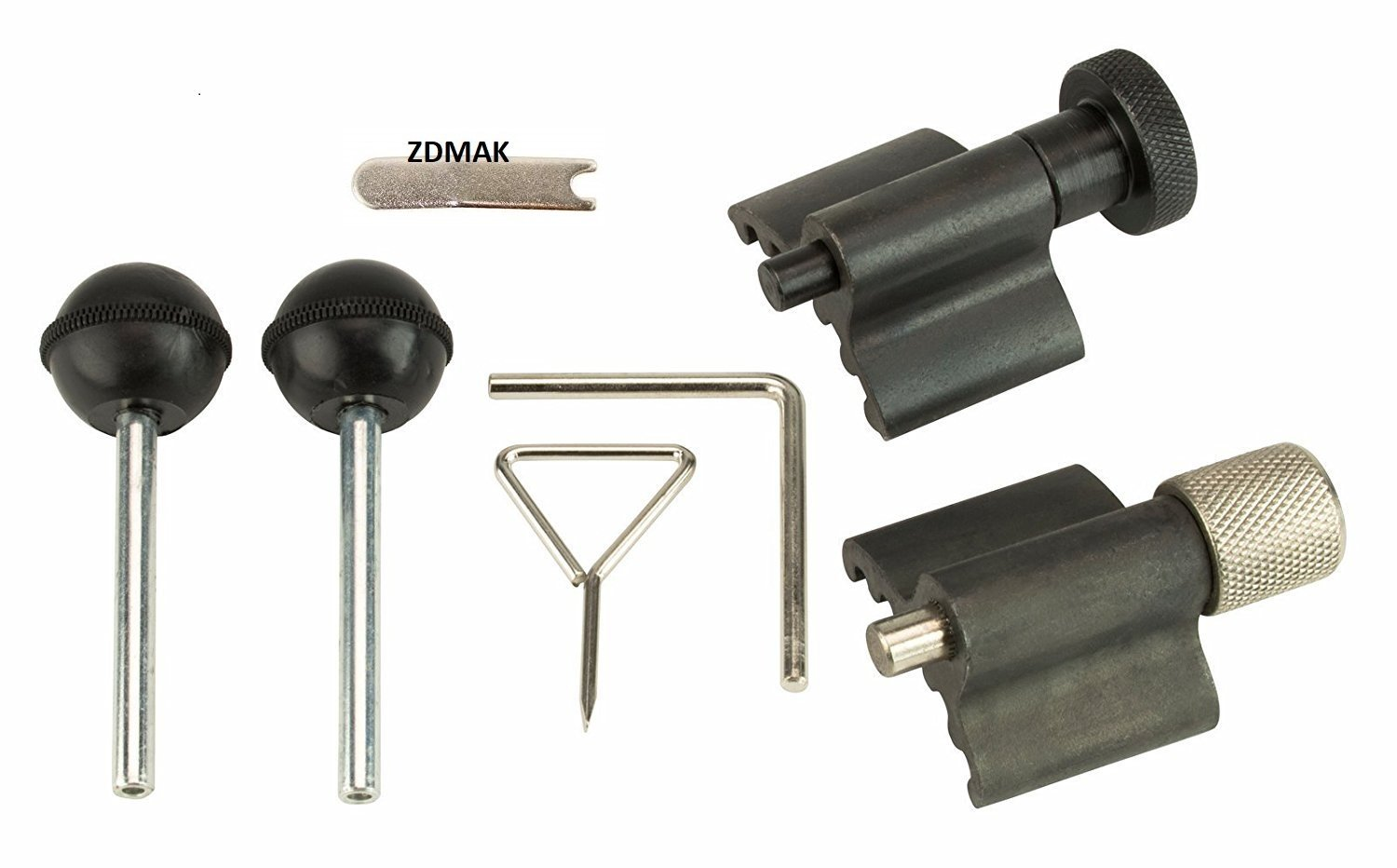 ZDMak Timing Tool Set with Crank Locks, Belts, Pins Compatible ON Audi, Volkswagen (VW), Skoda, Seat Diesel Vehicles by ZDMak (Image #1)
