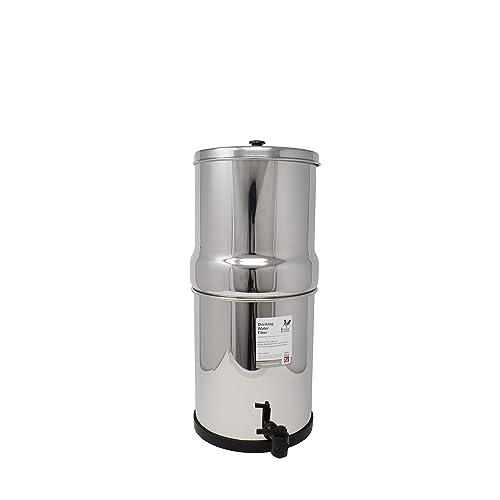 British Berkefeld Stainless Steel Drinking Water Gravity Filter Housing with 2 x British Berkefeld Ceramic Super Sterasyl Water Filter Cartridge Candles ¦ 7 inch ¦ W9361150