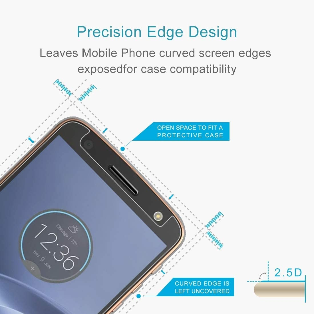 100 PCS 0.26mm 9H 2.5D Tempered Glass Film for Motorola Moto Z Force Clear YINZHI Screen Protector Film