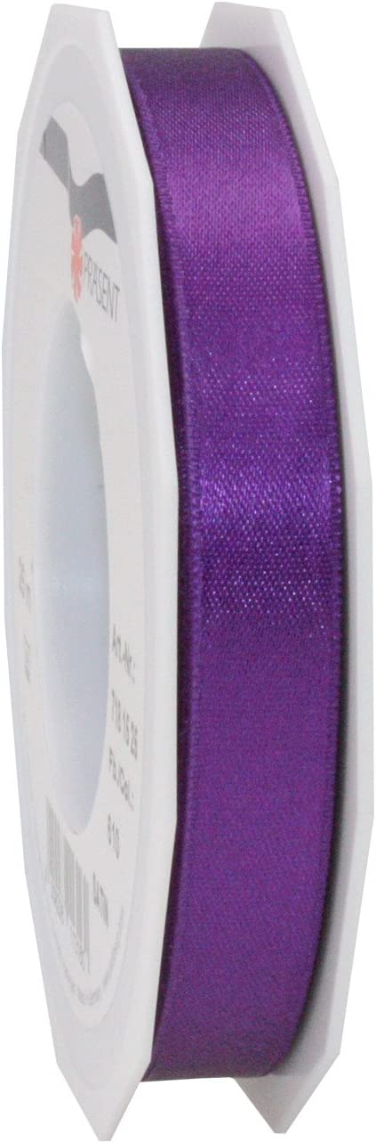 Violet Prasent 15 mm 25 m Satin Double Face Ribbon Roll