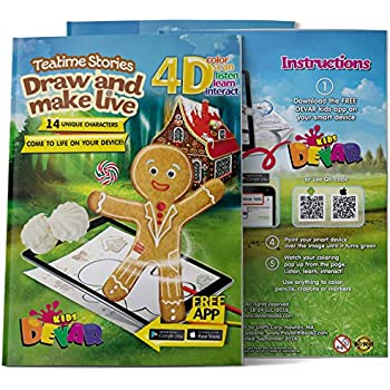 4D Augmented Reality Come To Life Coloring Books Teatime Stories