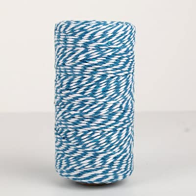 NewTrend 328 Feet Cotton Twine for DIY Craft, Packing, Decoration and Gardening, 3Ply Durable String and Eco-Friendly(Blue) : Office Products