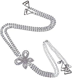 TreasureBay – Tirantes de sujetador doble fila, cruzado en la espalda, diseño de mariposas