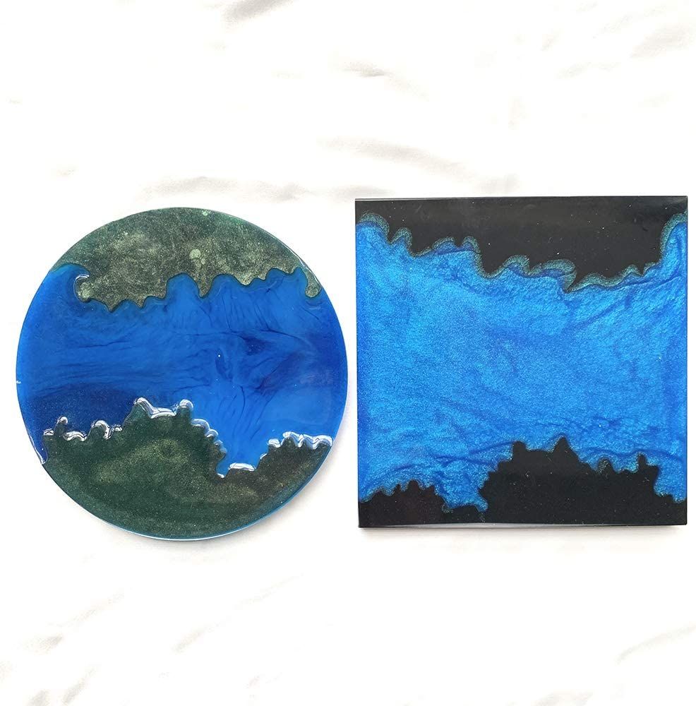 Resin Easy Coaster Molds Great for Making River Coaster//Ocean Coaster and Galaxy Coaster 2 PCS Resin Coaster Molds for Epoxy Resin and Polymer Clay Crafts