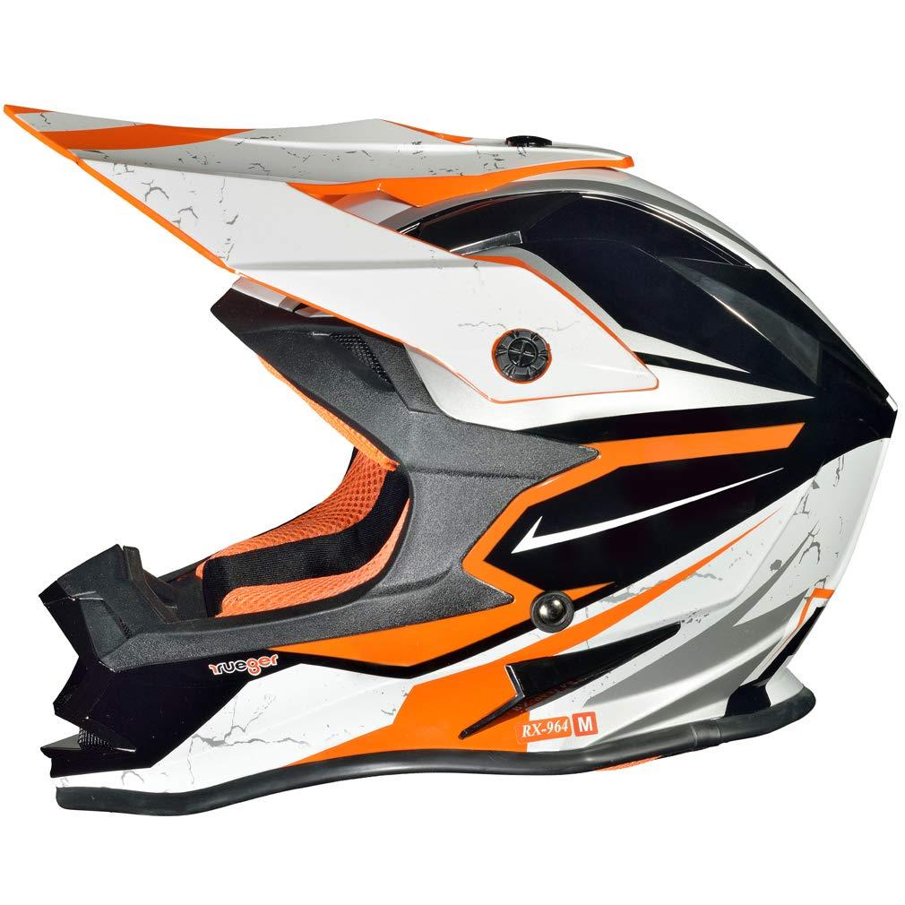 RK-652 Kinder Crosshelm Endurohelm Motorradhelm Roller Quad Helm Kinderhelm 55-56 Farbe:Light Orange Gr/ö/ße:S