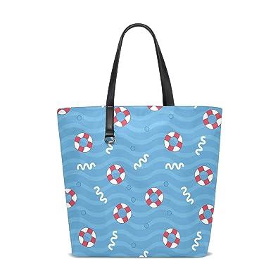 d2bde8451368 Beach Life Buoy Beach Tote Bags Travel Totes Bag Shopping Zippered ...