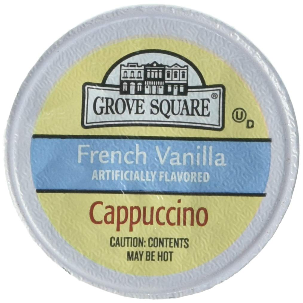 Grove Square Cappuccino, French Vanilla, 50 Single Serve Cups (Packaging May Vary) by Grove Square
