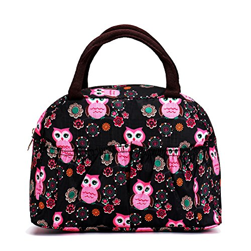 Reusable Fashion Lunch Bag for Women Cute Zipper Lunch Tote Bag Light Picnic Lunch Container , - Square Wholesale Fashion