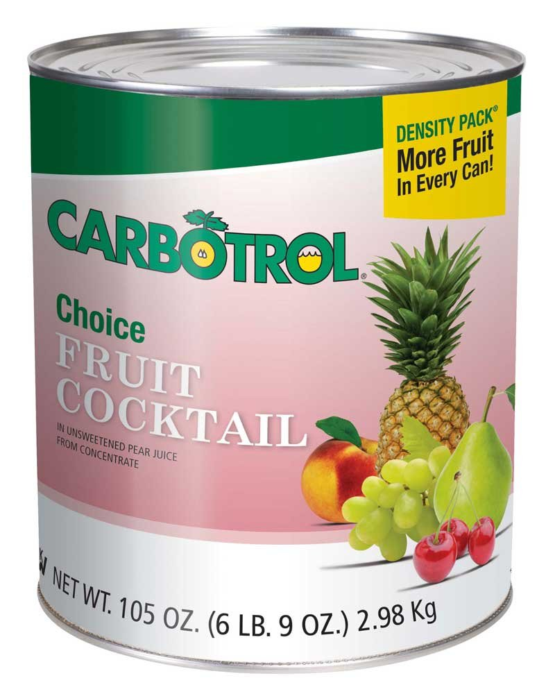Fruit Carbotrol Fruit Cocktail 6 Case 10 Can