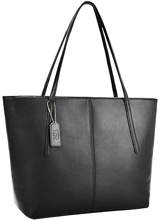 Coofit Damen Schultertasche Damen Handtasche Shopper Taschen Umhängetasche Geldbörse Portemonnaie Schulterbeutel- 35x32x14cm