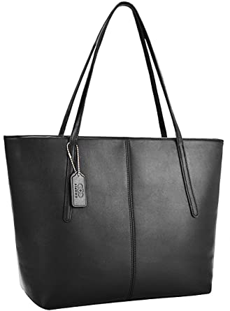 b85b14a56 Amazon.com: Tote Handbags,COOFIT Fashion Purses and Handbags for Women PU  Leather Purse Tote Bag Black: Clothing