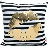 Monkeysell Bronzing flannelette Home Pillowcases Throw Pillow Cover lips love puzzles olive pineapple pattern design 18 inches (18 18 inches without the inside, S148B8)