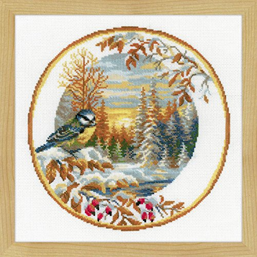 """RIOLIS Counted Cross Stitch Kit 11.75""""X11.75""""-Plate With Ori"""