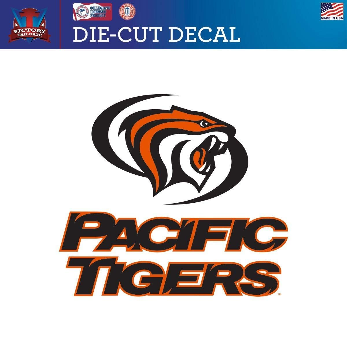 Victory Tailgate Pacific Tigers Die-Cut Vinyl Decal