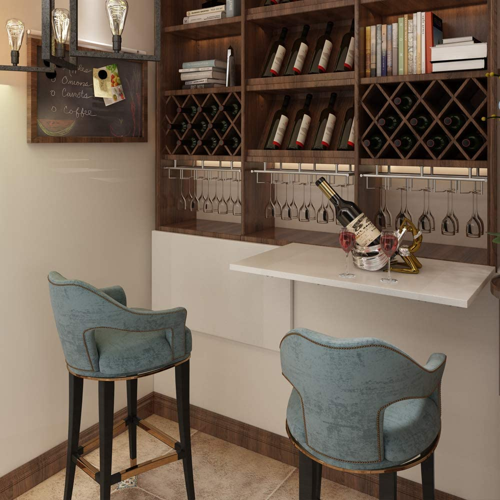 7650 Need Small Fold Down Table Wall Mounted Heavy Duty Small Folding Wall Table Length 30 Width 20 Perfect Addition to Laundry Room//Home Bar//Kitchen /& Dining Room AC15BW