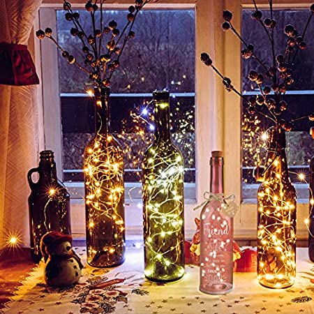 Yuccer Botella Led Mensaje de Amor Botella Luminosa Botella Luz Cristal Decorativa con Etiqueta Regalo Amigo Mamá Decoraciones para Hogar (Rosado)