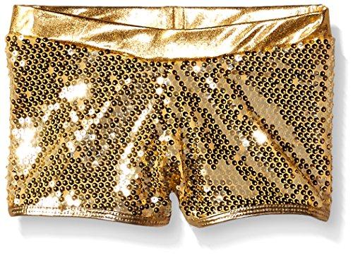 Gia Mia Dance Big Girls Sequin Short, Gold, Medium for $<!--$21.95-->