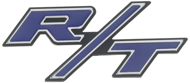 Btopars Red With Chrome R//T RT Side Fender Trunk Hatch Emblem Badge Sticker for Dodge Challenger Charger Ram Avenge