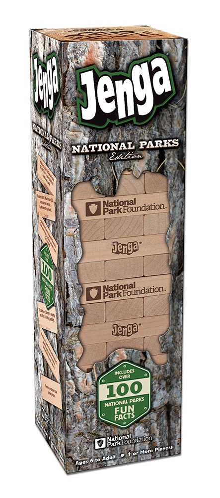USAOPOLY JENGA National Parks | Classic Jenga Wooden Block Game with a National Parks Theme | Perfect Travel Game for Families | Celebrate US National Parks Service by USAOPOLY