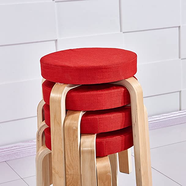 Amazon.com Ospi Set of 4 BentWood Stacking Stools with Padded Seat 17 inch Home Furniture Decor (Red) Kitchen u0026 Dining & Amazon.com: Ospi Set of 4 BentWood Stacking Stools with Padded ... islam-shia.org