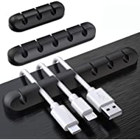 3Pcs Cable Management Clips, Power Cord,USB Cable,TV Cable, PC, Home and Office,Desktop Cable Manager,Cable Clips(for 3 cables or 5 cables or 7 cables)