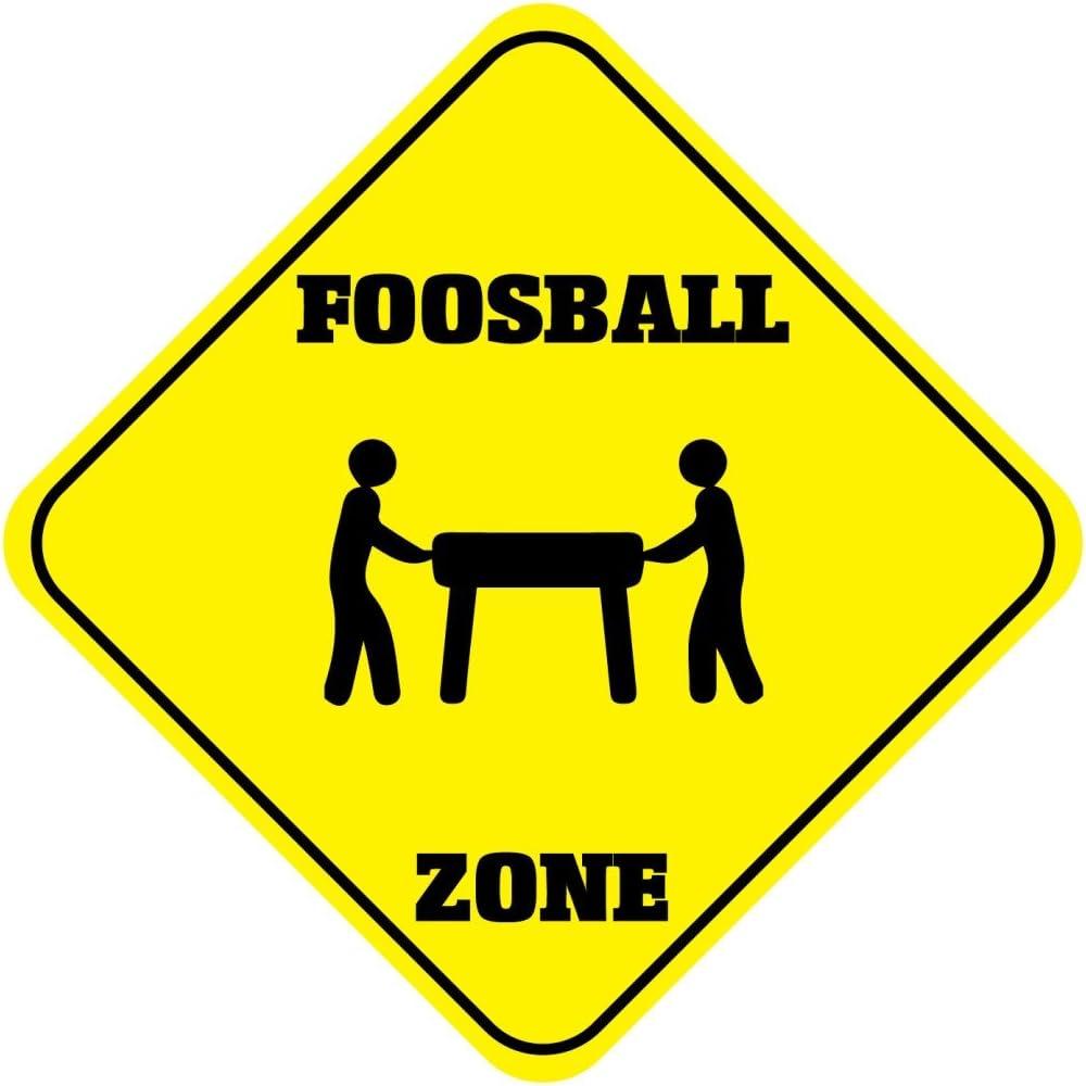 Futbolín zona cruce Funny Novelty de aluminio Metal Sign: Amazon.es: Hogar