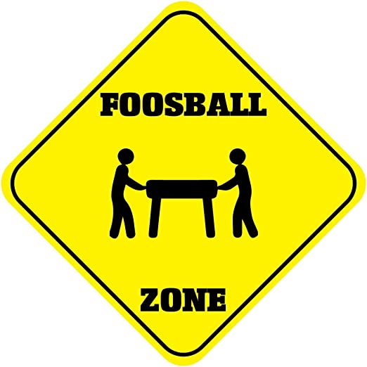 Futbolín zona cruce Funny Novelty de aluminio Metal Sign: Amazon ...
