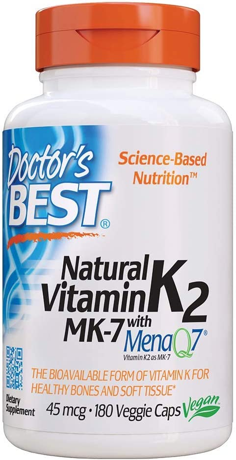 Amazon Com Doctor S Best Natural Vitamin K2 Mk 7 180 Count Health Personal Care