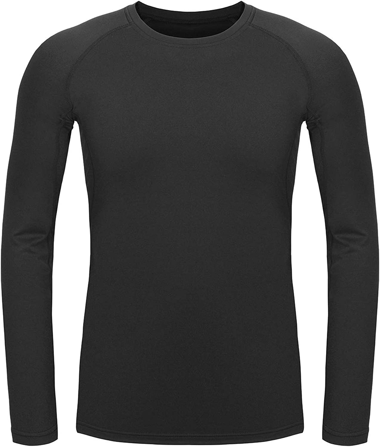 TAIBID Youth Boys' Compression Thermal Shirt Fleece Base Layer Long Sleeve Soccer Baseball Top, Size S - XL: Clothing