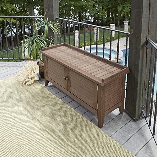 Montego Bay Barnside Brown Outdoor Solid Wood Storage Bench by Home Styles