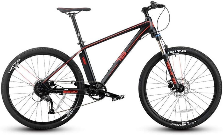 Mnjin Bicicleta ecológica Inteligente de Velocidad eléctrica de Onda automática, Bicicleta de montaña Inteligente de Cambio electrónico de Promesa, Rojo