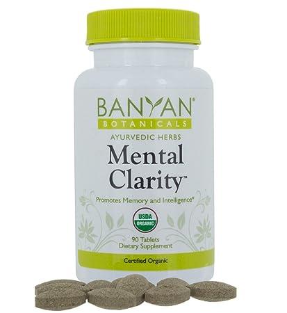 Banyan Botanicals Mental Clarity - USDA Organic - 90 tablets - Promotes  Memory, Focus, Concentration*