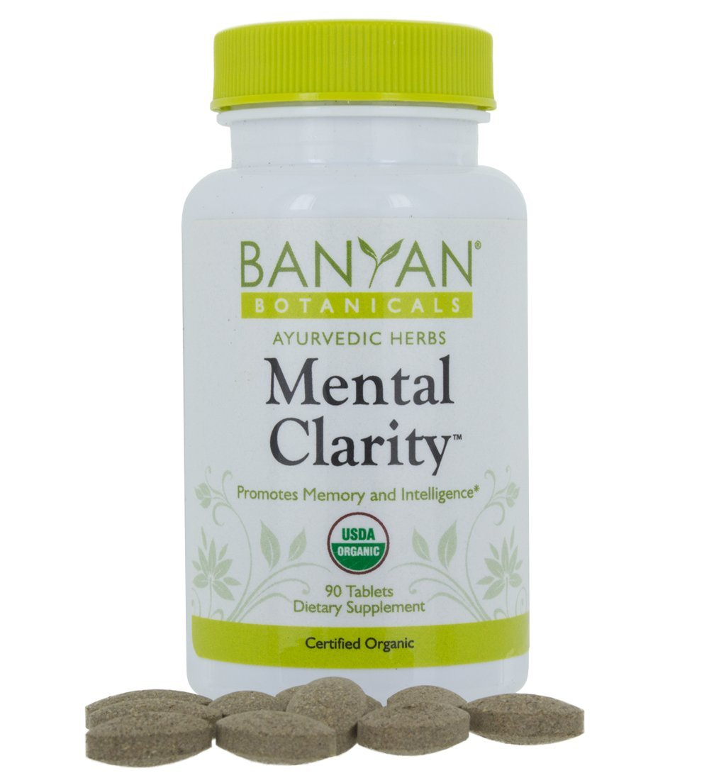 Banyan Botanicals Mental Clarity - USDA Organic - 90 tablets - Promotes Memory, Focus, & Concentration*