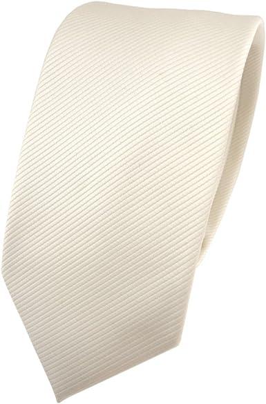 TigerTie - corbata estrecha - beige marfil champán monocromo Rips ...