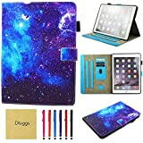Dluggs New iPad 2017 Case / iPad Air 2 Case / iPad Air Case-Slim Fit PU Leather Folio Flip Smart Stand Case with Auto Sleep/Wake Function for Apple iPad 9.7 2017 Model/ iPad Air 1 2-Space