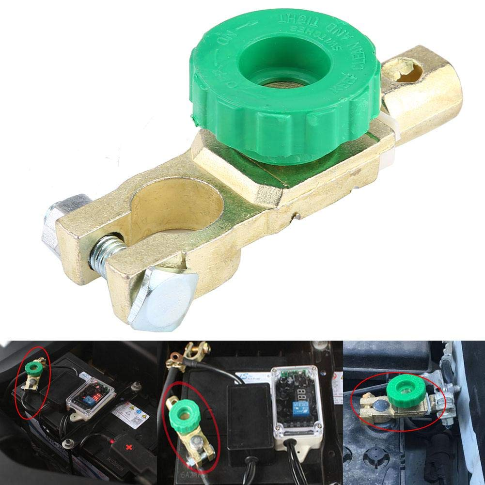 Aramox Cut-off Switch 12V Universal Battery Link Terminal Quick Cut-off Switch Disconnect Master Kill Shut Switch Battery Power off Switch for Car Truck