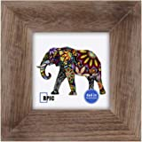 RPJC 4x4 inch Picture Frame Made of Solid Wood High Definition Glass for Wall Mounting Photo Frame Carbonized